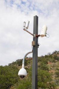 Weather telemetry pole