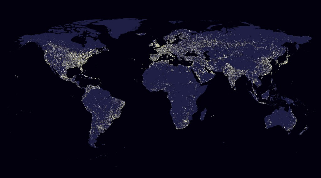 Sky Quality Monitoring - Bortle dark sky scale map